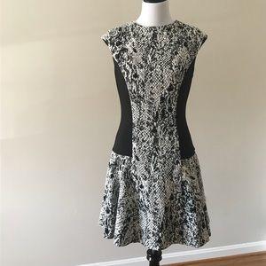 Ted Baker Snake Print Jacquard Skater Dress
